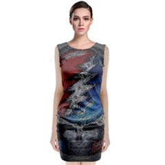 Grateful Dead Logo Sleeveless Velvet Midi Dress