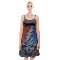 Grateful Dead Logo Spaghetti Strap Velvet Dress