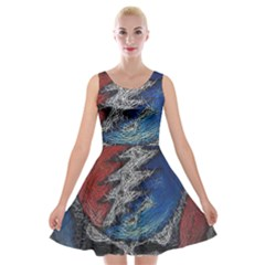 Grateful Dead Logo Velvet Skater Dress