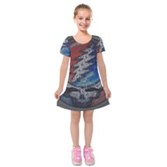 Grateful Dead Logo Kids  Short Sleeve Velvet Dress