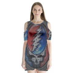 Grateful Dead Logo Shoulder Cutout Velvet  One Piece