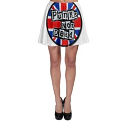 Punk Not Dead Music Rock Uk Flag Skater Skirt