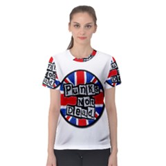 Punk Not Dead Music Rock Uk Flag Women s Sport Mesh Tee