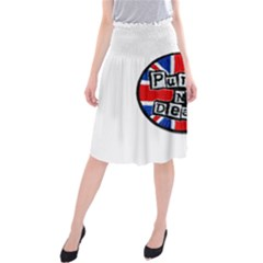 Punk Not Dead Music Rock Uk Flag Midi Beach Skirt
