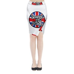 Punk Not Dead Music Rock Uk Flag Midi Wrap Pencil Skirt