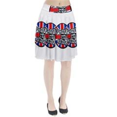 Punk Not Dead Music Rock Uk Flag Pleated Skirt