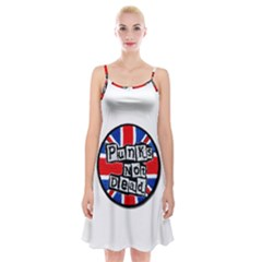 Punk Not Dead Music Rock Uk Flag Spaghetti Strap Velvet Dress