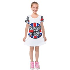 Punk Not Dead Music Rock Uk Flag Kids  Short Sleeve Velvet Dress