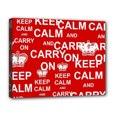 Keep Calm And Carry On Canvas 14  X 11