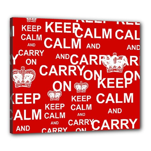 Keep Calm And Carry On Canvas 24  x 20