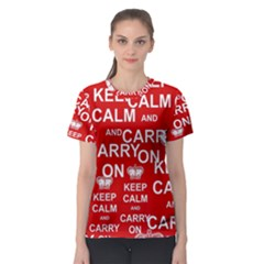 Keep Calm And Carry On Women s Sport Mesh Tee