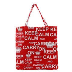 Keep Calm And Carry On Grocery Tote Bag