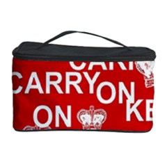 Keep Calm And Carry On Cosmetic Storage Case