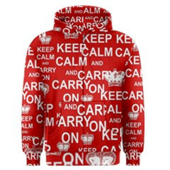 Keep Calm And Carry On Men s Zipper Hoodie