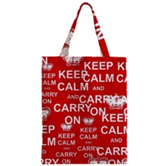 Keep Calm And Carry On Zipper Classic Tote Bag