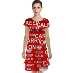 Keep Calm And Carry On Cap Sleeve Nightdress