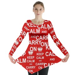 Keep Calm And Carry On Long Sleeve Tunic
