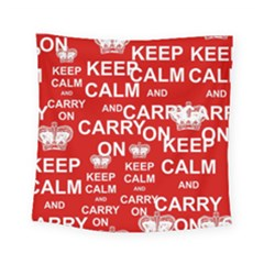 Keep Calm And Carry On Square Tapestry (small)