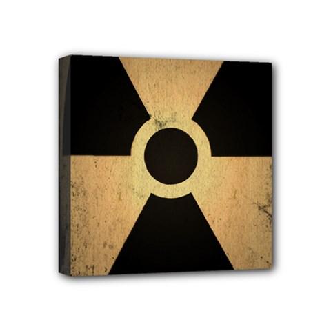 Radioactive Warning Signs Hazard Mini Canvas 4  X 4