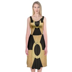 Radioactive Warning Signs Hazard Midi Sleeveless Dress