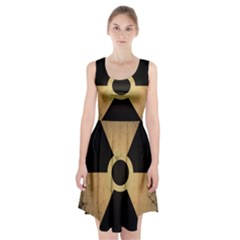 Radioactive Warning Signs Hazard Racerback Midi Dress