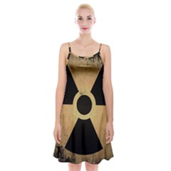 Radioactive Warning Signs Hazard Spaghetti Strap Velvet Dress