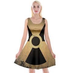 Radioactive Warning Signs Hazard Reversible Velvet Sleeveless Dress