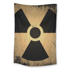 Radioactive Warning Signs Hazard Large Tapestry