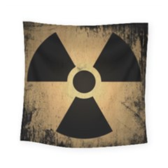 Radioactive Warning Signs Hazard Square Tapestry (small)