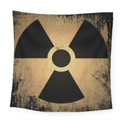 Radioactive Warning Signs Hazard Square Tapestry (Large)