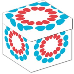 Egg Circles Blue Red White Storage Stool 12