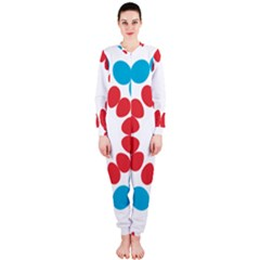Egg Circles Blue Red White OnePiece Jumpsuit (Ladies)