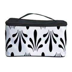 Floral Black White Cosmetic Storage Case