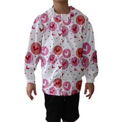 Crafts Chevron Cricle Pink Love Heart Valentine Hooded Wind Breaker (Kids)