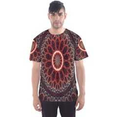 Circles Shapes Psychedelic Symmetry Men s Sport Mesh Tee