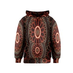 Circles Shapes Psychedelic Symmetry Kids  Zipper Hoodie