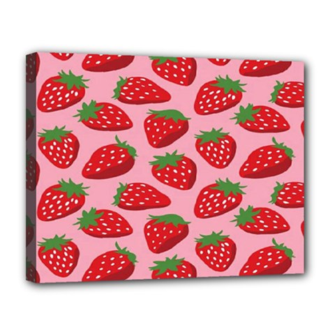 Fruitb Red Strawberries Canvas 14  x 11