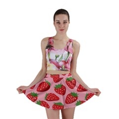 Fruitb Red Strawberries Mini Skirt