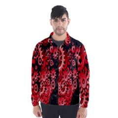 Gold Wheels Red Black Wind Breaker (Men)