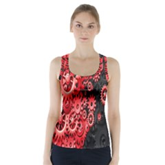 Gold Wheels Red Black Racer Back Sports Top
