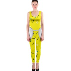 Glasses Yellow OnePiece Catsuit