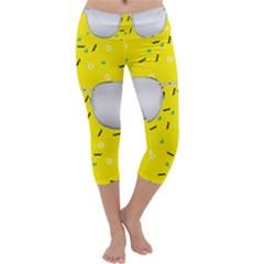 Glasses Yellow Capri Yoga Leggings