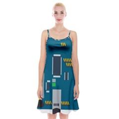 Amphisbaena Two Platform Dtn Node Vector File Spaghetti Strap Velvet Dress
