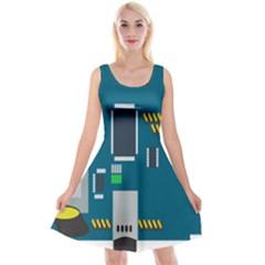 Amphisbaena Two Platform Dtn Node Vector File Reversible Velvet Sleeveless Dress