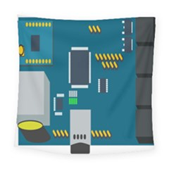 Amphisbaena Two Platform Dtn Node Vector File Square Tapestry (Large)