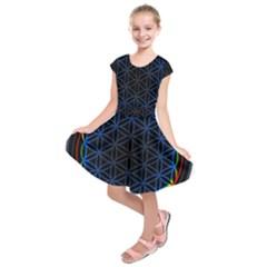 Flower Of Life Kids  Short Sleeve Dress