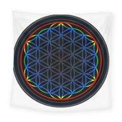 Flower Of Life Square Tapestry (large)