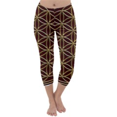 Flower Of Life Capri Winter Leggings