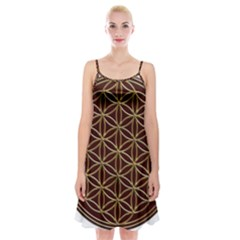 Flower Of Life Spaghetti Strap Velvet Dress
