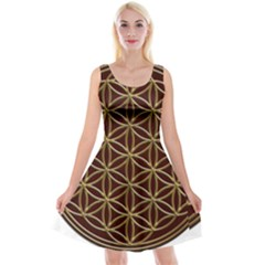 Flower Of Life Reversible Velvet Sleeveless Dress